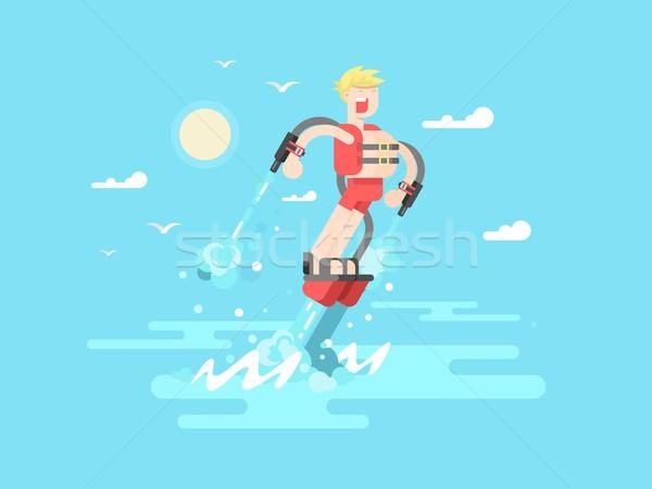 человека воды лет отпуск Extreme солнце Сток-фото © jossdiim