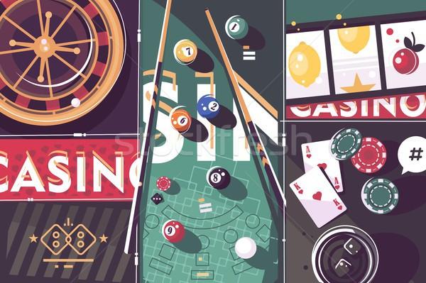 Jogos de azar jogo cassino abstrato roleta de bilhar Foto stock © jossdiim
