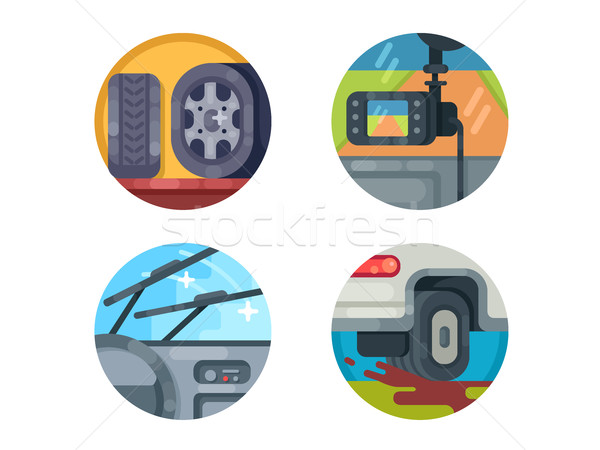 Set of auto icons Stock photo © jossdiim