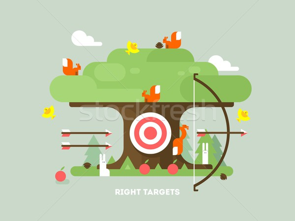 Right targets tree with animal Stock photo © jossdiim
