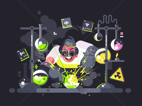 Scientist chemist making chemical experiment Stock photo © jossdiim