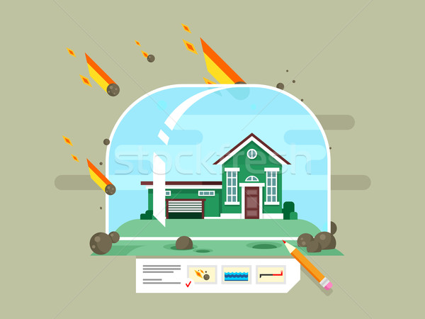 Property insurance concept Stock photo © jossdiim