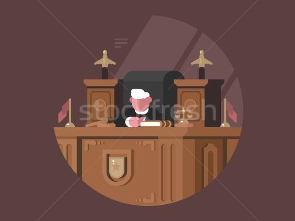 賢い 裁判官 椅子 職場 正義 男 ストックフォト © jossdiim