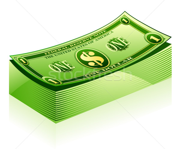 Dollar Pack blanche argent vert Finance Photo stock © jossdiim