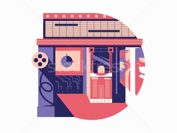 映画 ホール 映画撮影術 映画 映画 芸術 ストックフォト © jossdiim