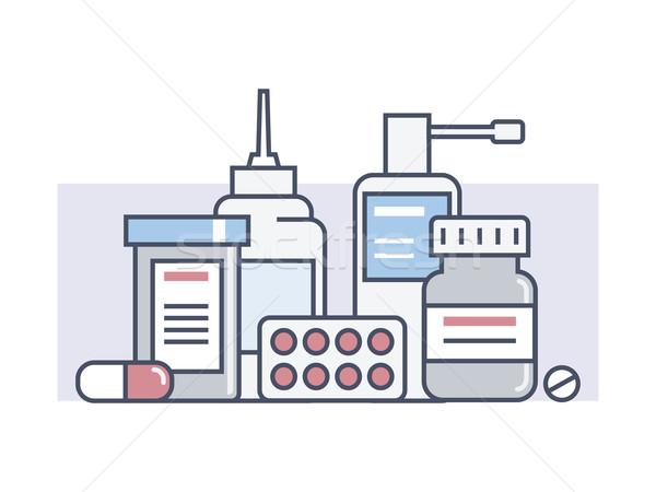 Set medical drugs Stock photo © jossdiim