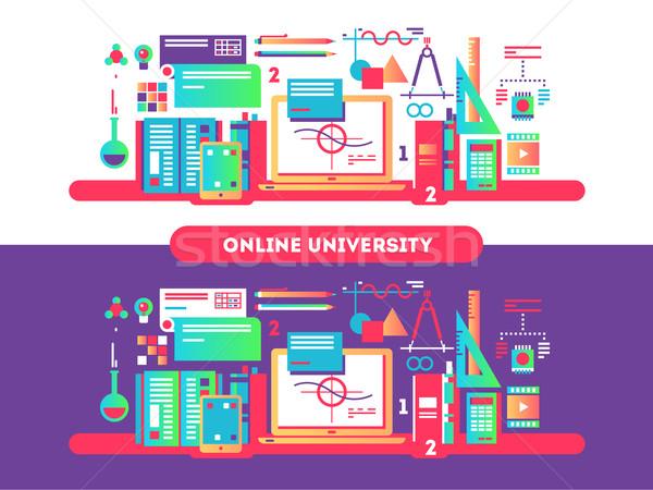 Online university design flat Stock photo © jossdiim