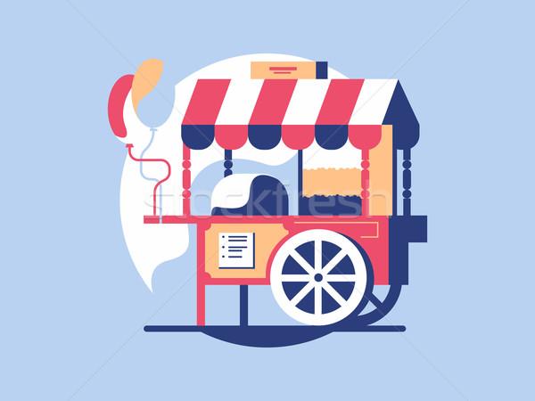 попкорн рынке корзины магазине дизайна Сток-фото © jossdiim