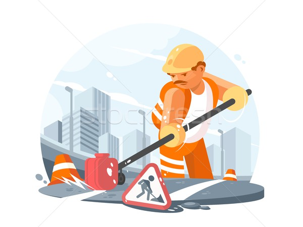 Road service worker Stock photo © jossdiim
