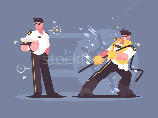 Captain of cruise liner in uniform Stock photo © jossdiim