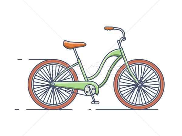 Bicycle isolated line style Stock photo © jossdiim