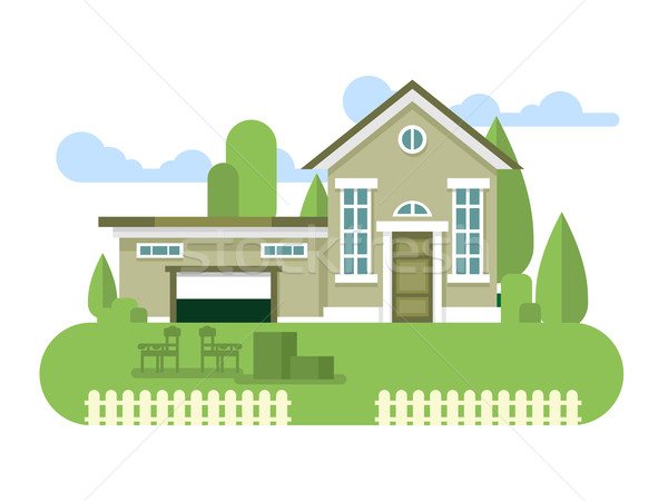 Building home flat Stock photo © jossdiim