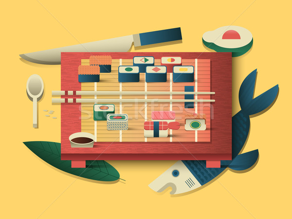 Sushi design flat Stock photo © jossdiim