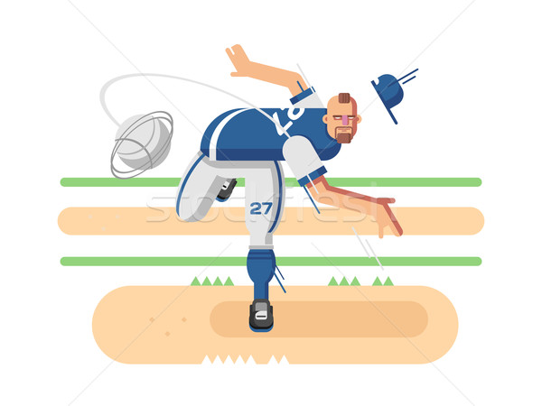 Baseball player character Stock photo © jossdiim