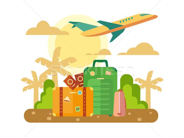 Summer Vacation, Travel flat illustration. Stock photo © jossdiim