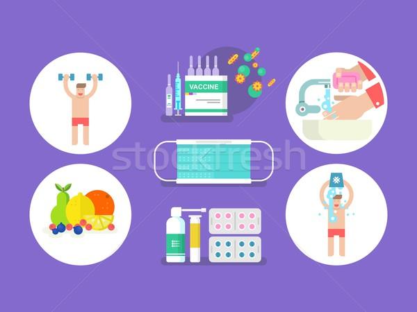 Influenza gripe medicina salud virus Foto stock © jossdiim