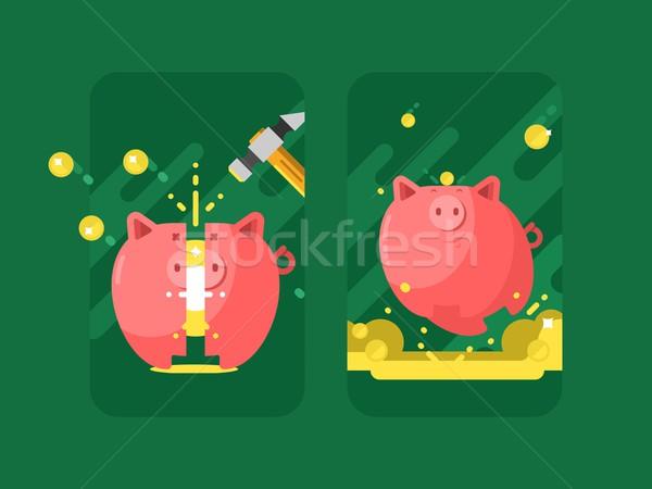 Zdjęcia stock: Banku · piggy · ceny · pieniężnych · finansowych · monety · zapisać