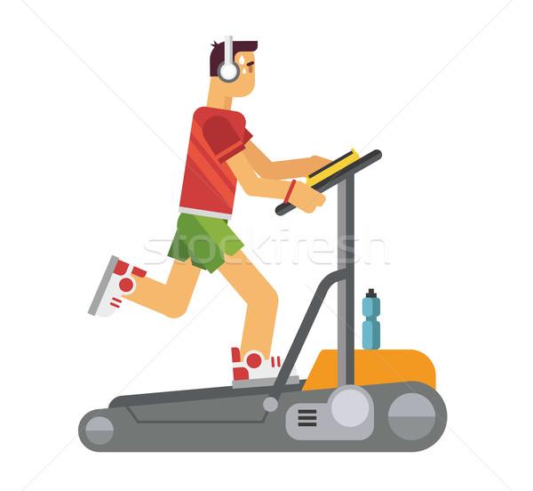 Athlete Running on a Treadmill Stock photo © jossdiim