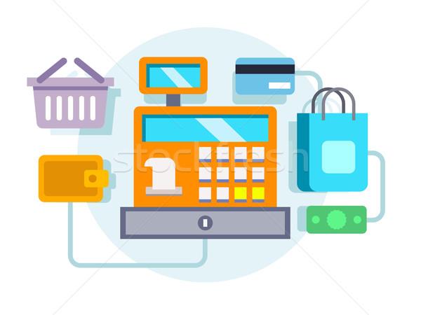 ストックフォト: レジ · 実例 · 支払い · お金 · 小売 · デザイン