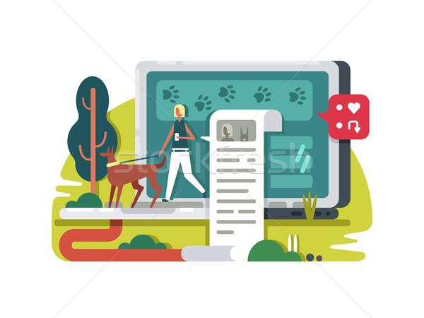 Blogging vie internet écrire blog réseau social Photo stock © jossdiim