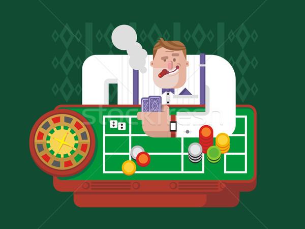 Gambler playing roulette Stock photo © jossdiim