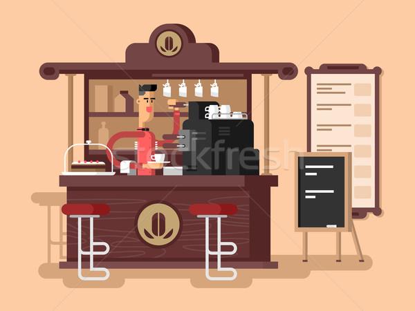 Kawiarnia wnętrza Kafejka restauracji kubek espresso Zdjęcia stock © jossdiim