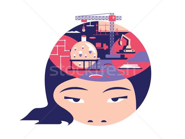 Foto stock: Idea · cabeza · diseno · creativa · mente · pensar