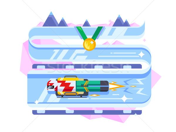 Skeleton winter sports Stock photo © jossdiim