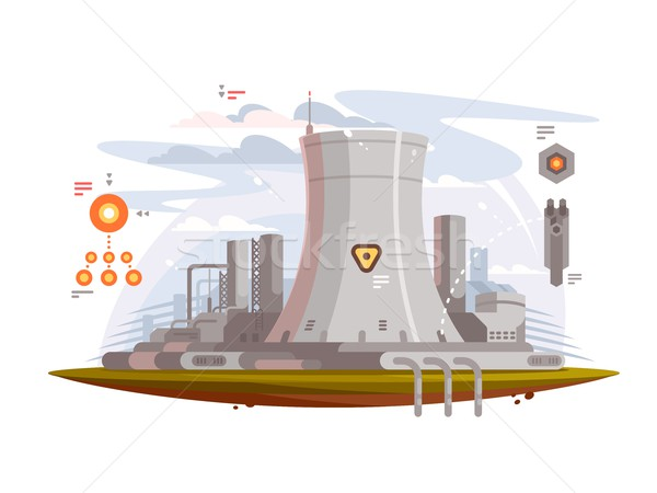 Powerful nuclear reactor Stock photo © jossdiim