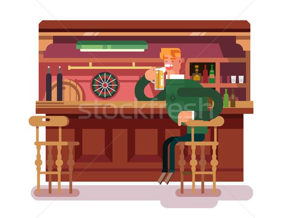 ショップ パブ ビール バー ドリンク アルコール ストックフォト © jossdiim
