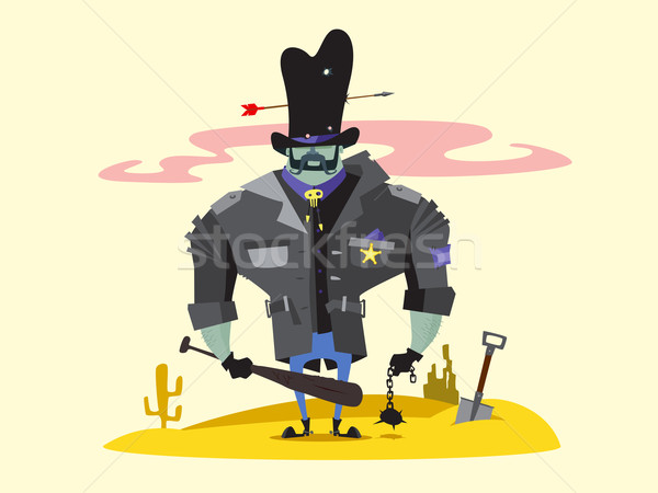 Wild West Sheriff Cartoon Character Stock photo © jossdiim