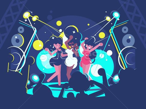 Filles danse discothèque belle piste de danse musique Photo stock © jossdiim