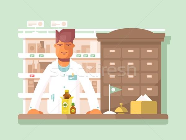 Farmaceuta apteki apteka sklep lek wsparcie Zdjęcia stock © jossdiim