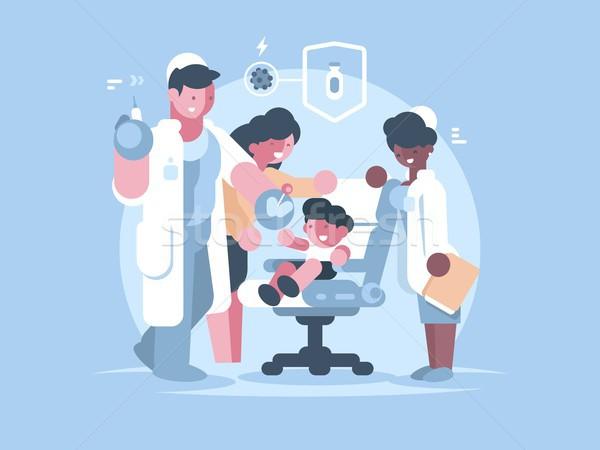 Gyerekek orvosi oltás orvos vakcina gyermek Stock fotó © jossdiim