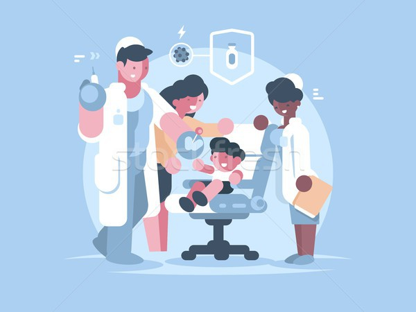 Children medical vaccination Stock photo © jossdiim