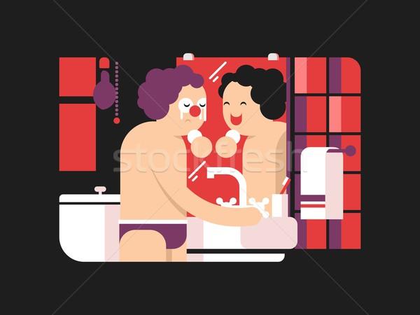 Reflexión espejo manana persona cara mirando Foto stock © jossdiim