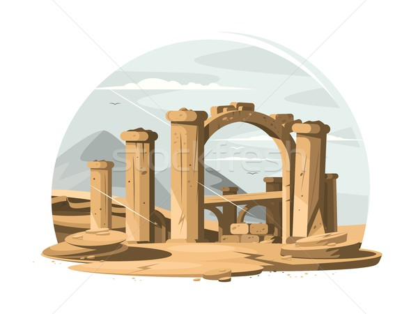 Architectural ruins old Stock photo © jossdiim