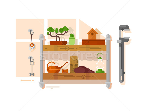 Shelf interior with object Stock photo © jossdiim