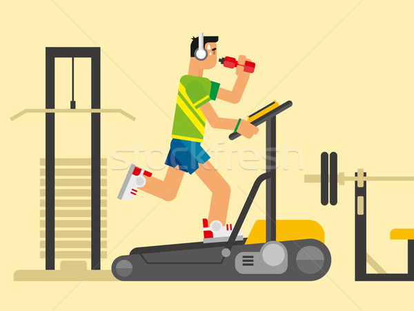 Athlete Running on a Treadmill Stock photo © jossdiim