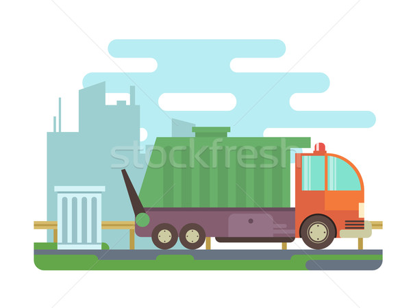 ごみ トラック 交通 コンテナ ゴミ 廃棄物 ストックフォト © jossdiim