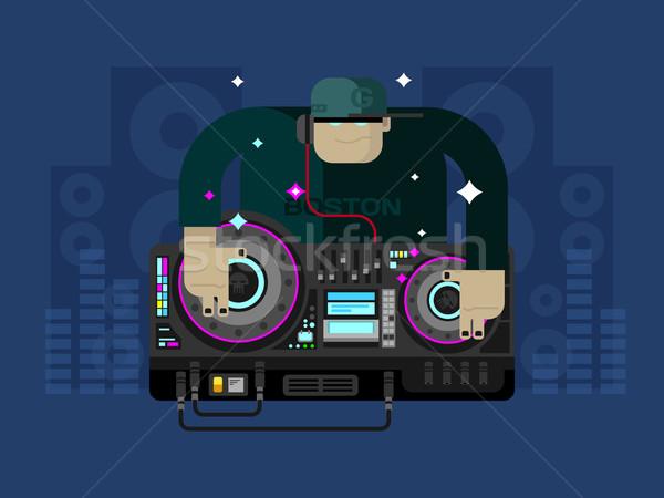 Karakter müzik parti ses ses disko Stok fotoğraf © jossdiim