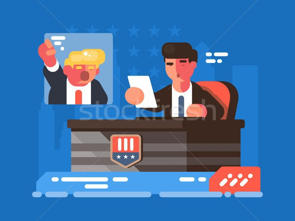 Stock photo: Political TV show