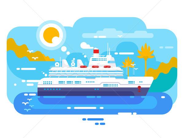 Statek wycieczkowy morza projektu morskich podróży ocean Zdjęcia stock © jossdiim