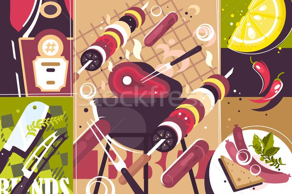Barbecue abstract background Stock photo © jossdiim