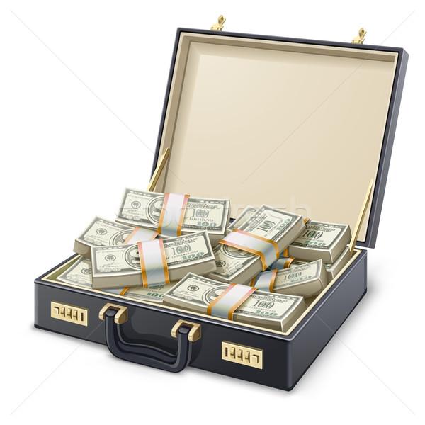 Caso completo soldi bianco business cross Foto d'archivio © jossdiim