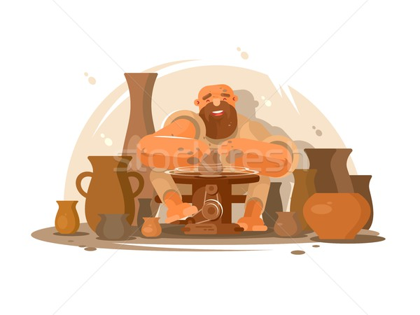 Potter bearded man Stock photo © jossdiim