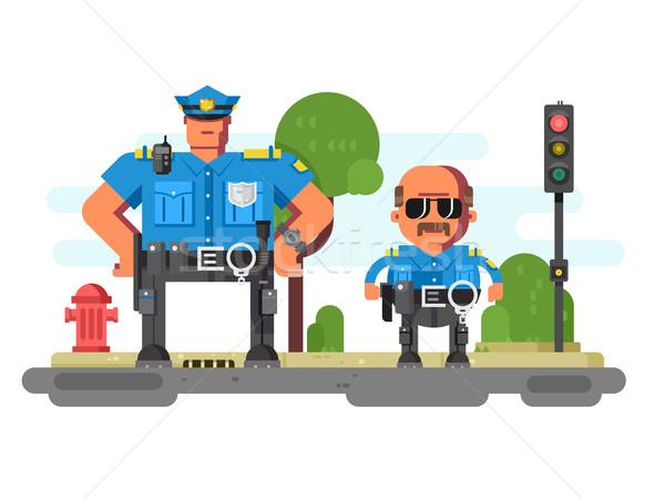 Polizia l'applicazione della legge faccia uomo lavoro Foto d'archivio © jossdiim