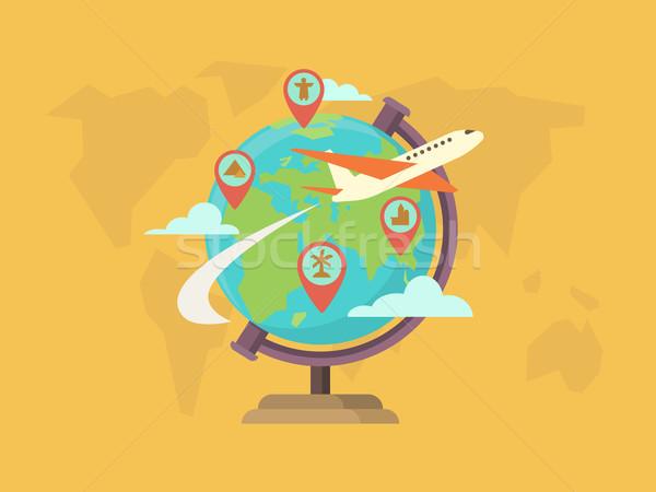Travel around the world Stock photo © jossdiim