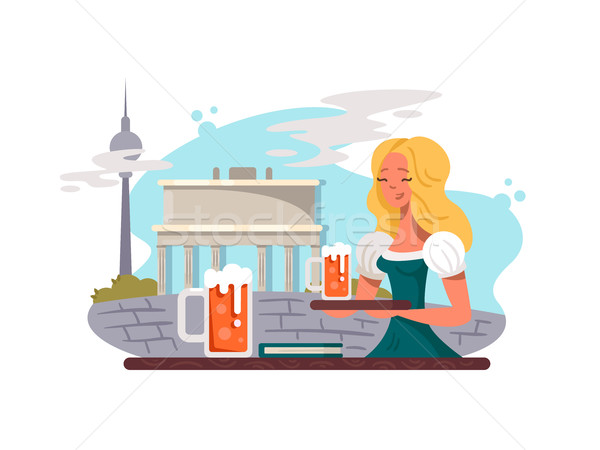 Berlin capital of Germany Stock photo © jossdiim