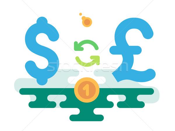 ドル ポンド 通貨 交換 抽象的な 光 ストックフォト © jossdiim